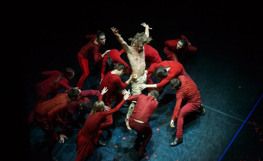 Performance of The White Dance Theatre (Poland)