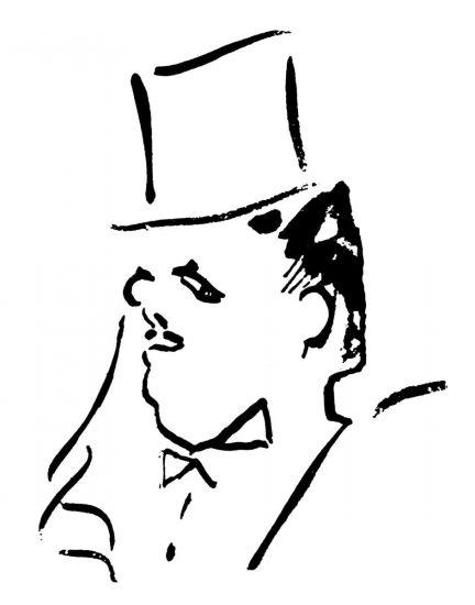 С. Дягилев. Рисунок Ж. Кокто.